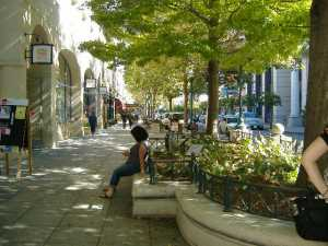 A view of Pacific Street, Pacific Garden Mall Santa Cruz